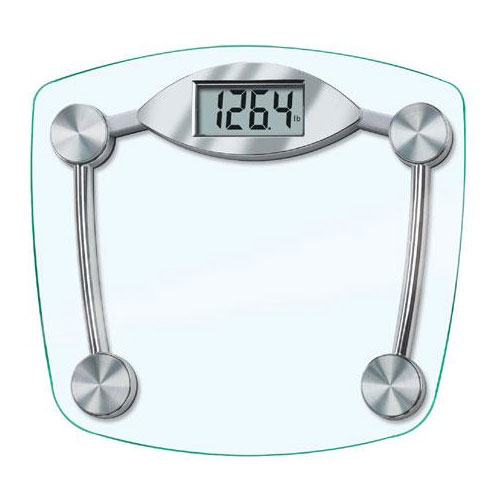 Taylor 75194192 Glass Scale w/ 440-lb Capacity, Rugged Tempered Glass Platform