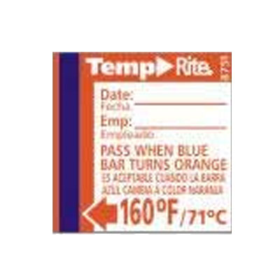 Taylor 8751 Temperature Sensor w/ Stick-On Dishwasher Labels, 160 F Degrees