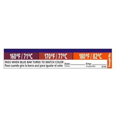 Taylor 8769 Adhesive Dishwasher Temperature Labels, 160, 170 & 180 F Degrees
