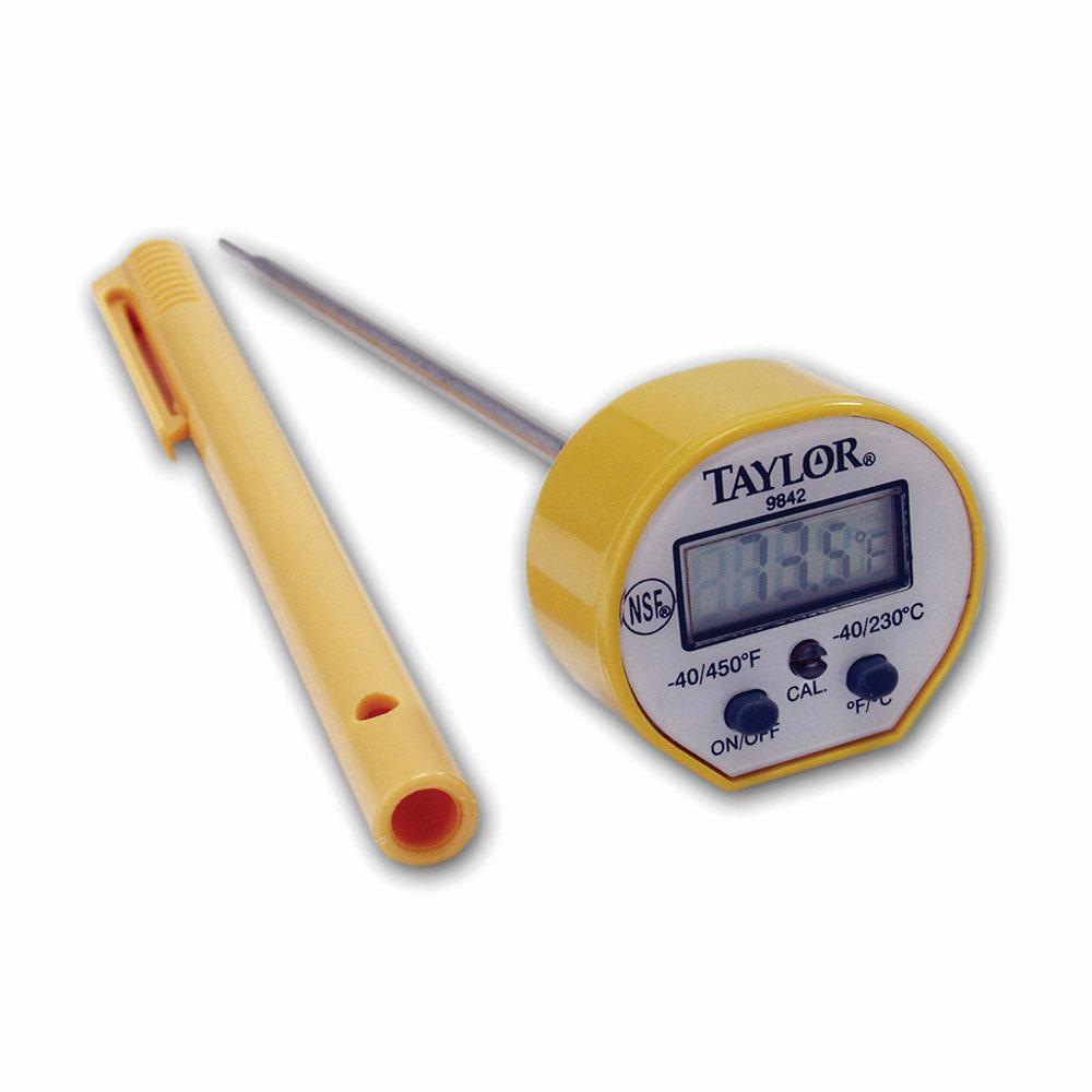 Taylor 9842FDA Pocket Thermometer w/ Waterproof Digital D...