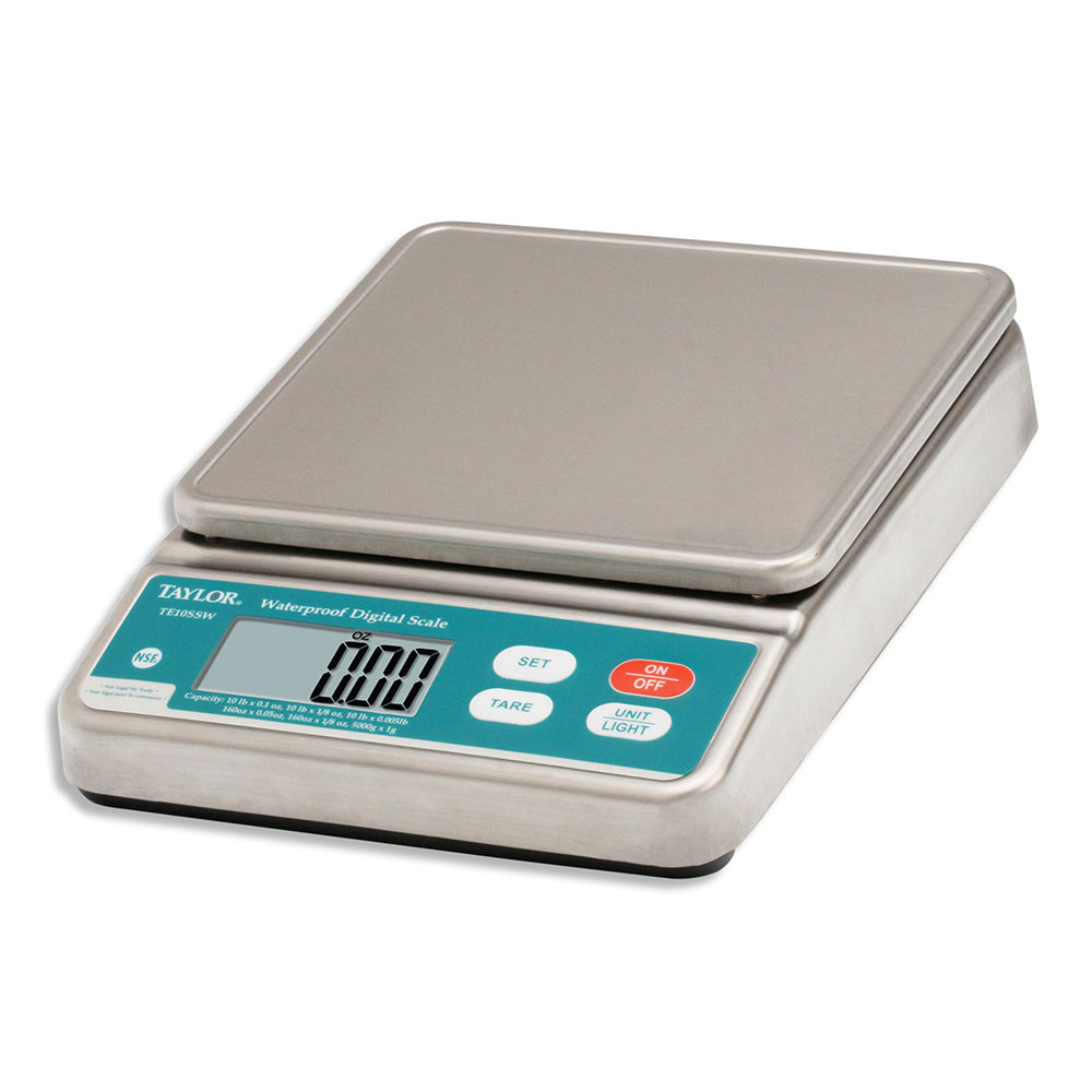 Taylor TE10SSW Electronic Portion Control Scale w/ LCD Digital Display, 10-lb