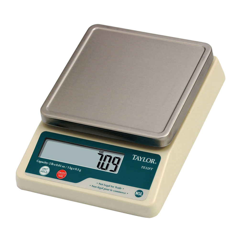 Taylor TE32FT Digital Scale, Compact, 2 lb x 0.1 oz, NSF