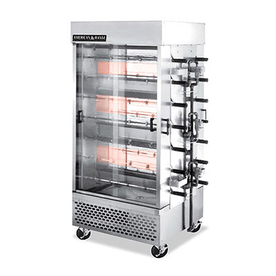 American Range ACB-14 NG Gas 14-Spit Commercial Rotisserie, NG