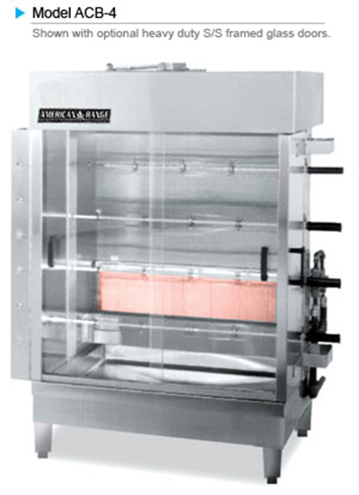 American Range ACB-4 Gas 4-Spit Commercial Rotisserie, LP