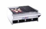 American Range AECB34LP 34 in Heavy Duty Charbroiler, Counter Model, Lava Rock, LP