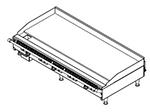 "American Range AEMG48NG 48"" Gas Griddle - Manual, 3/4"" Steel Plate, NG"