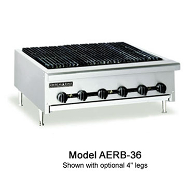 "American Range AERB12LP 12"" Radiant Charbroiler w/ Reversible Cast Iron Grates, LP"