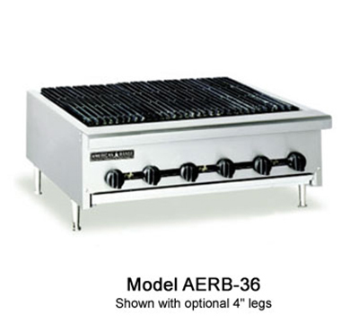 American Range AERB-12 NG 12-in Countertop Charbroiler w/ Cast Iron Grates, Radiant, 30,000-BTU, NG