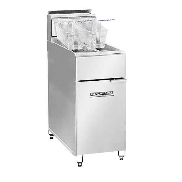American Range AF3550 Gas Fryer - (1) 50-lb Vat, Floor Model, LP