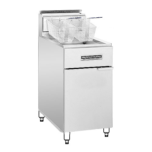 American Range AF75 Gas Fryer - (1) 80-lb Vat, Floor Model, NG