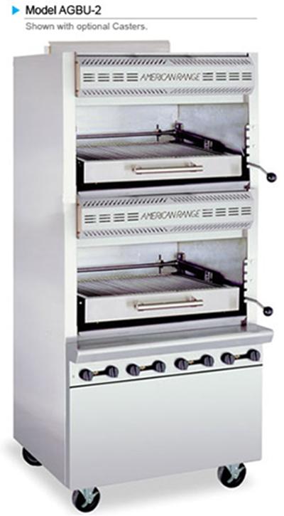 American Range AGBU-2 NG Infrared Broiler w/ 2-Decks & Stainless Exterior, 160000-BTU, NG