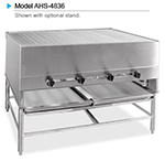 "American Range AHSR-60 NG 60"" Horizontal Broiler w/ 9-Spits & Stand, Stainless Exterior, 300000-BTU, NG"