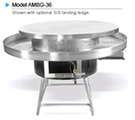 American Range AMBG-36 LP 36-in Round Mongolian BBQ w/ Polished Cooking Surface, 125000-BTU, LP