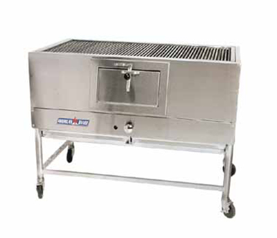"American Range AMSQ-60 NG 60"" Mesquite Broiler w/ Cast Iron Removable Grates, 40000-BTU, NG"