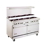 "American Range AR-10-SU 60"" 10-Burner Gas Range, Step-up, NG"