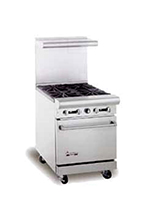 "American Range AR12FT-2B 24"" 2-Burner Gas Range with French Top, NG"