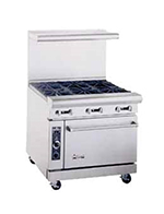 "American Range AR12G4B 36"" 4-Burner Gas Range with Griddle, NG"