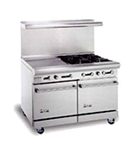 "American Range AR12G6B 48"" 6-Burner Gas Range with Griddle, LP"