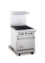"American Range AR-2RB 24"" Gas Range with Charbroiler, NG"