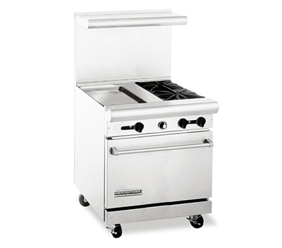 "American Range AR30-18G-2B 30"" 2-Burner Gas Range with Griddle, LP"