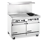 "American Range AR36G2BLP 48"" 2-Burner Gas Range with Griddle, LP"