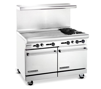 "American Range AR36G2B 48"" 2-Burner Gas Range with Griddle, NG"