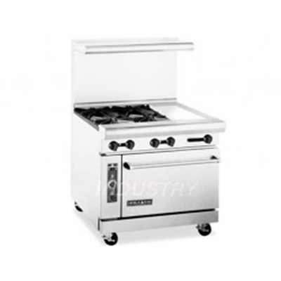 "American Range AR4B12RG 36"" 4-Burner Gas Range with Griddle & Broiler, LP"