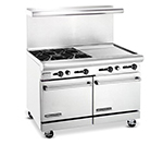 "American Range AR4B24RG 48"" 4-Burner Gas Range with Griddle & Broiler, NG"