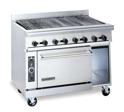 "American Range AR-4RB 48"" Gas Range with Charbroiler, LP"