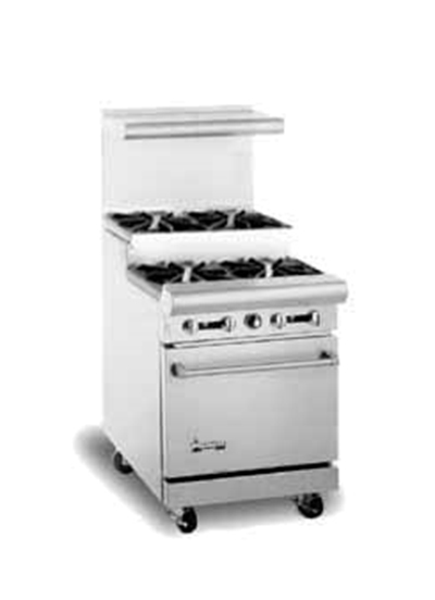 "American Range AR-4-SU 24"" 4-Burner Gas Range, Step-up, NG"
