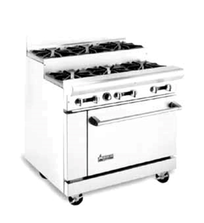 "American Range AR-8-SU 48"" 8-Burner Gas Range, Step-up, LP"