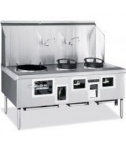 American Range ARCR2 NG 2-Bowl Wok Range w/ Built-in Drain System & Water Cooled Top, NG