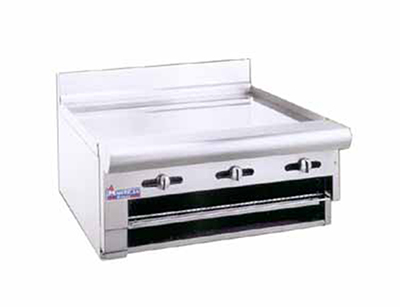 American Range ARGB24LP 24-in Raised Griddle Broiler w/ Manual Controls, Counter, LP