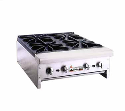 American Range ARHP48-4 NG 48-in Counter Hotplate w/ 4-Burners, Manual, 128000-BTU, NG