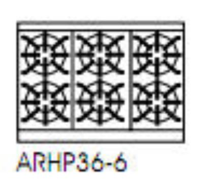 American Range ARHP36-6 NG 36-in Countertop Hotplate w/ 6-Burners, NG