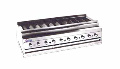 "American Range ARKB-48 NG 48"" Counter Kebob Broiler w/ Heavy Duty Radiant Bars, 240000-BTU, NG"