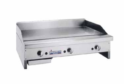 "American Range ARMG48 LP 48"" Gas Griddle - Manual, 3/4"" Steel Plate, LP"