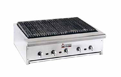 "American Range ARRB-30 LP 30"" Counter Charbroiler w/ Heavy Duty Grates, Manual, 75000-BTU, LP"