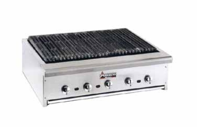 "American Range ARRB-48 48"" Counter Charbroiler w/ Removable Radiants, Stainless Front & Trim, NG"
