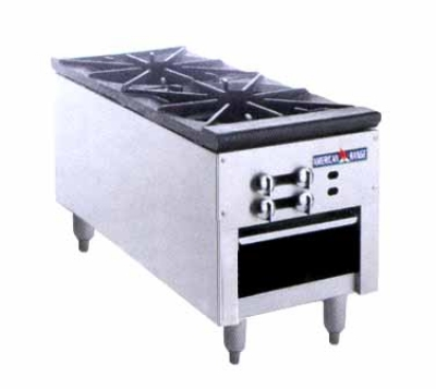 American Range ARSP182 LP 2-Burner Stock Pot Range, LP