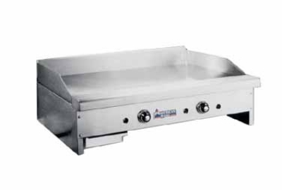 American Range ARTG48 LP 48-in Griddle w/ .75-in Polished Steel Plate & Thermostatic Control, LP
