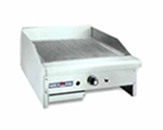 American Range ARTGG24NG 24-in Griddle w/ Thermostatic Controls, Grooved Plate, Counter, NG