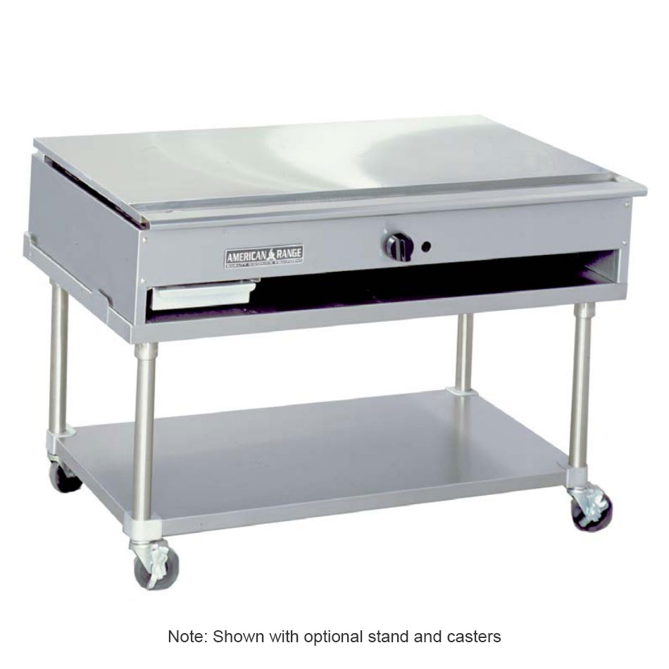 "American Range ARTY-48 48"" Teppan-Yaki Griddle w/ Polished Steel Plate, Manual, 30,000-BTU, LP"