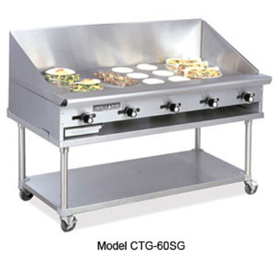 American Range CTG-72 LP 72-in Counter Griddle w/ 1-in Steel Plate, Thermostatic, 150000-BTU, LP
