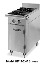 "American Range HD11-2SU-M 11"" 2-Burner Gas Range, Step-up, LP"
