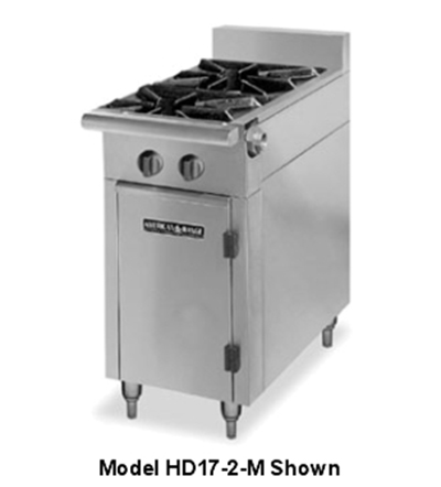 "American Range HD17-2SU-M 17"" 2-Burner Gas Range, Step-up, NG"