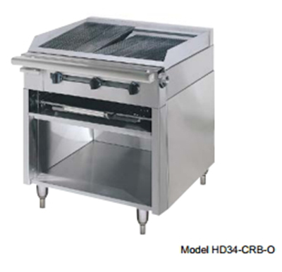 "American Range HD34-17TG-1FT-1 34"" Gas Range with Griddle & French Top, NG"