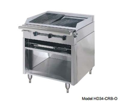 "American Range HD34-17TG-1FT-1C 34"" Gas Range with Griddle & French Top, NG"