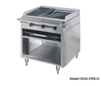 "American Range HD34-17VG-1FT-1C 34"" Gas Range with Griddle & French Top, NG"