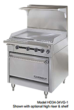 "American Range HD34-17VG-1HT-1 34"" Gas Range with Griddle & Hot Top, NG"